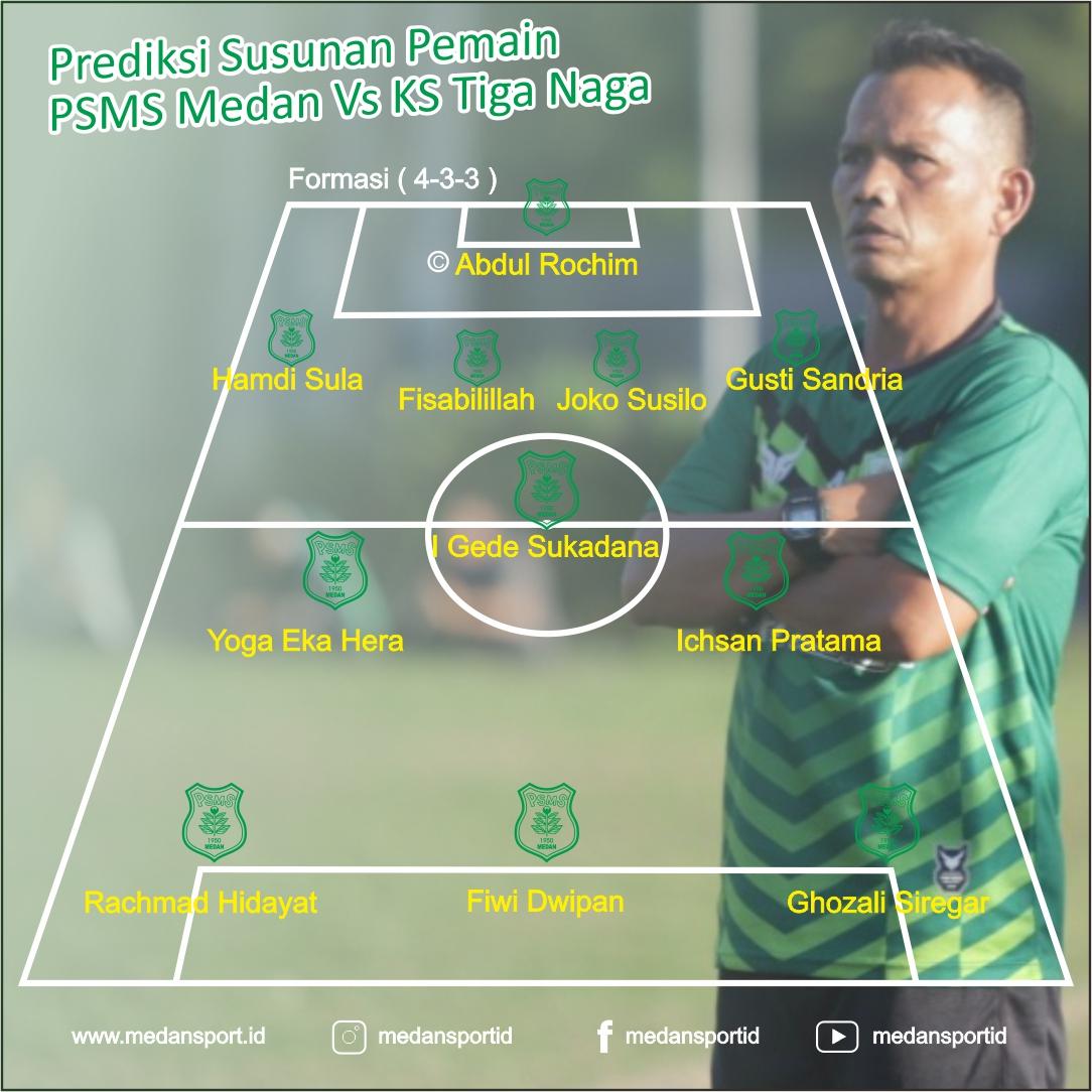 Prediksi Susunan Pemain PSMS Medan