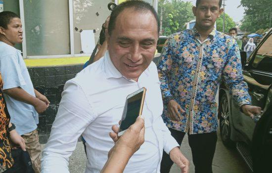 Tonton Laga PSMS Kontra Sriwijaya, Edy Rahmayadi Sebut Faktor Unlucky