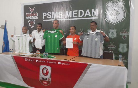 Baju PSMS Medan Kini Ada Lambang Kepala Bantengnya Loh...
