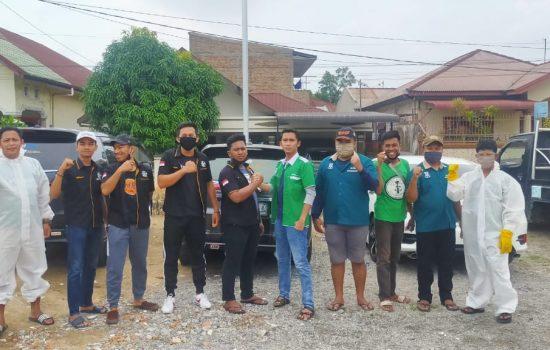 Cegah Penyebaran Corona, Kampak FC dan Pacu Gelar Aksi Semprot Disinfektan